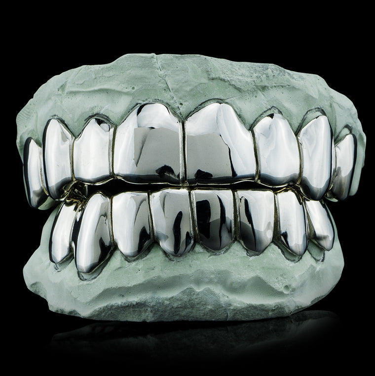 Buy Sterling Silver Grillz & White Gold Teeth Online - ON SALE