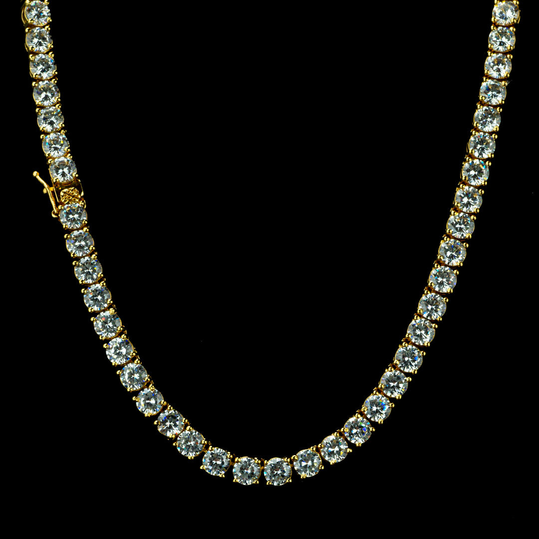 4MM Diamond Chain in Yellow Gold