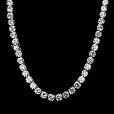 8MM Diamond Chain in White Gold