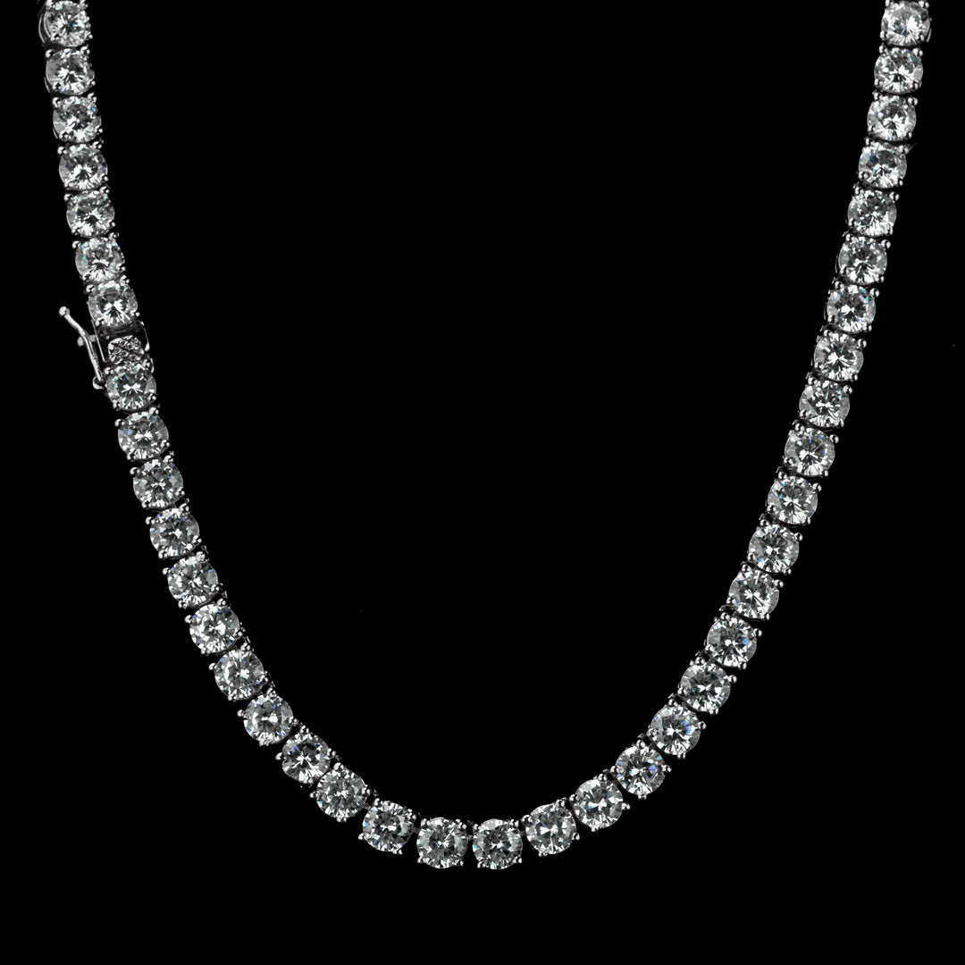 4MM Diamond Chain in White Gold