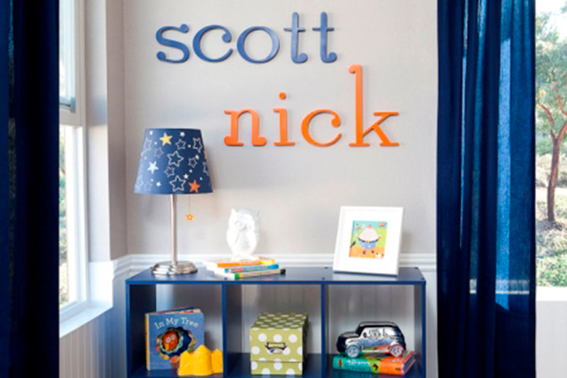 Hand Painted Wall Letters for Kids' Room Decor