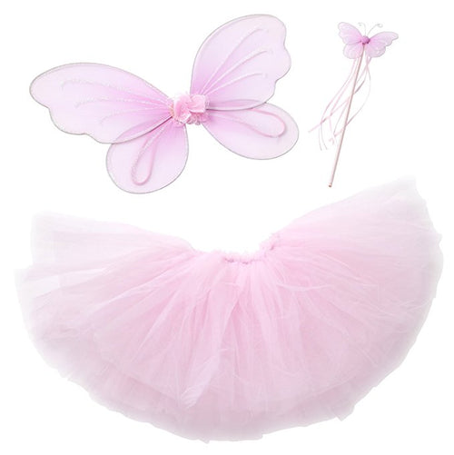 Girls Pink Princess Costume w/Cape Tiara & Wand