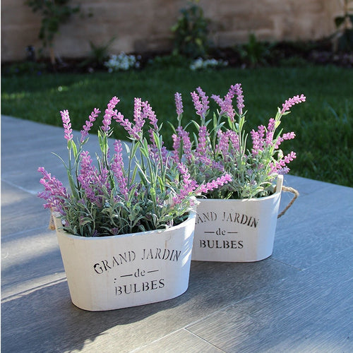 Lavender Plant Pots 2 Pc Set