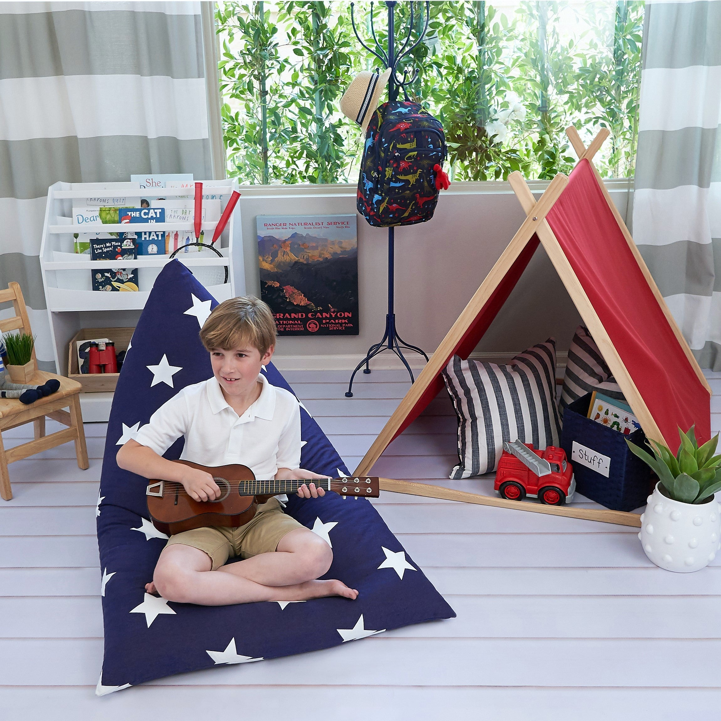 Navy with Star Bean Bag