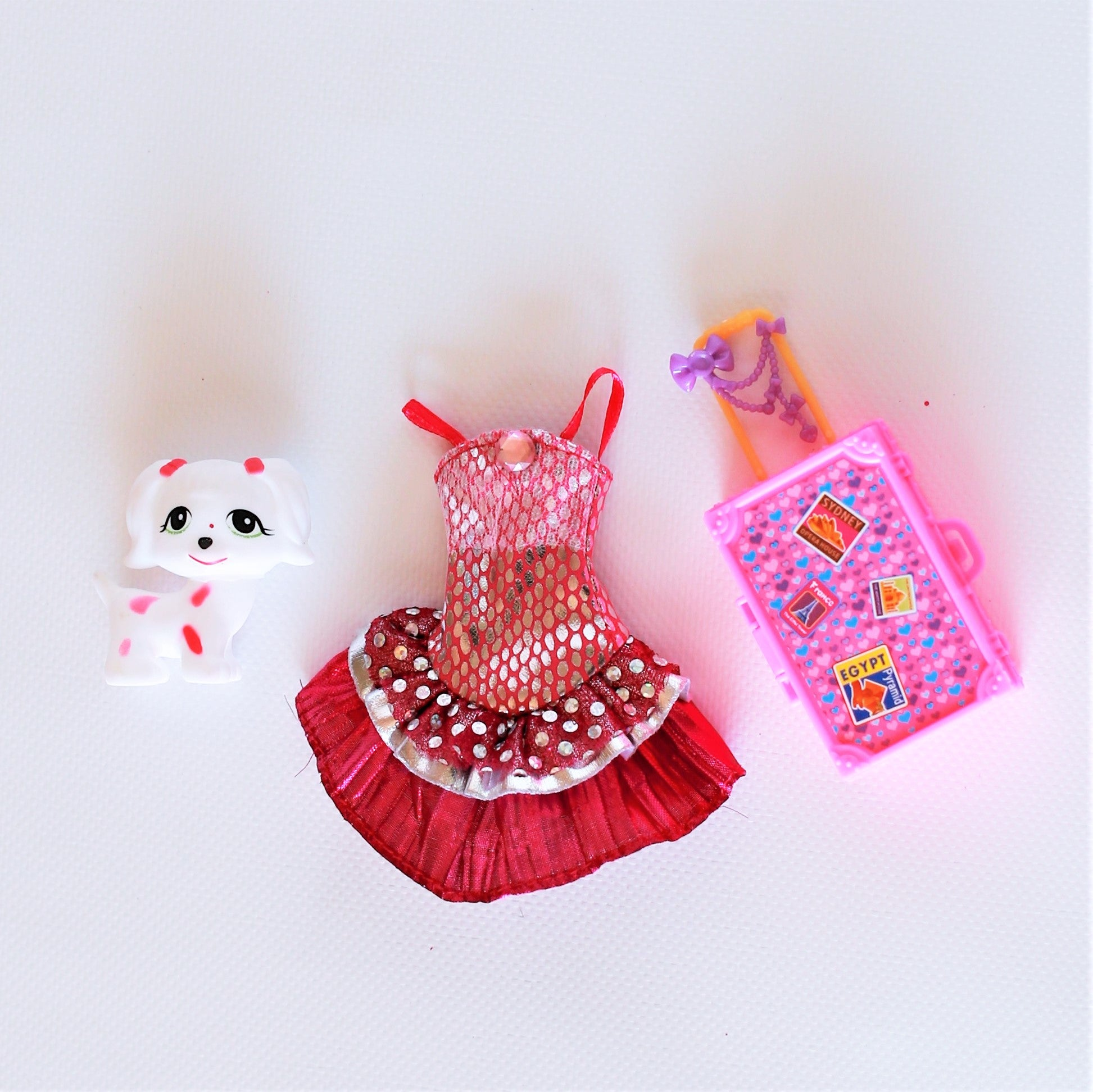 Two Fashion Doll Set with Accessories