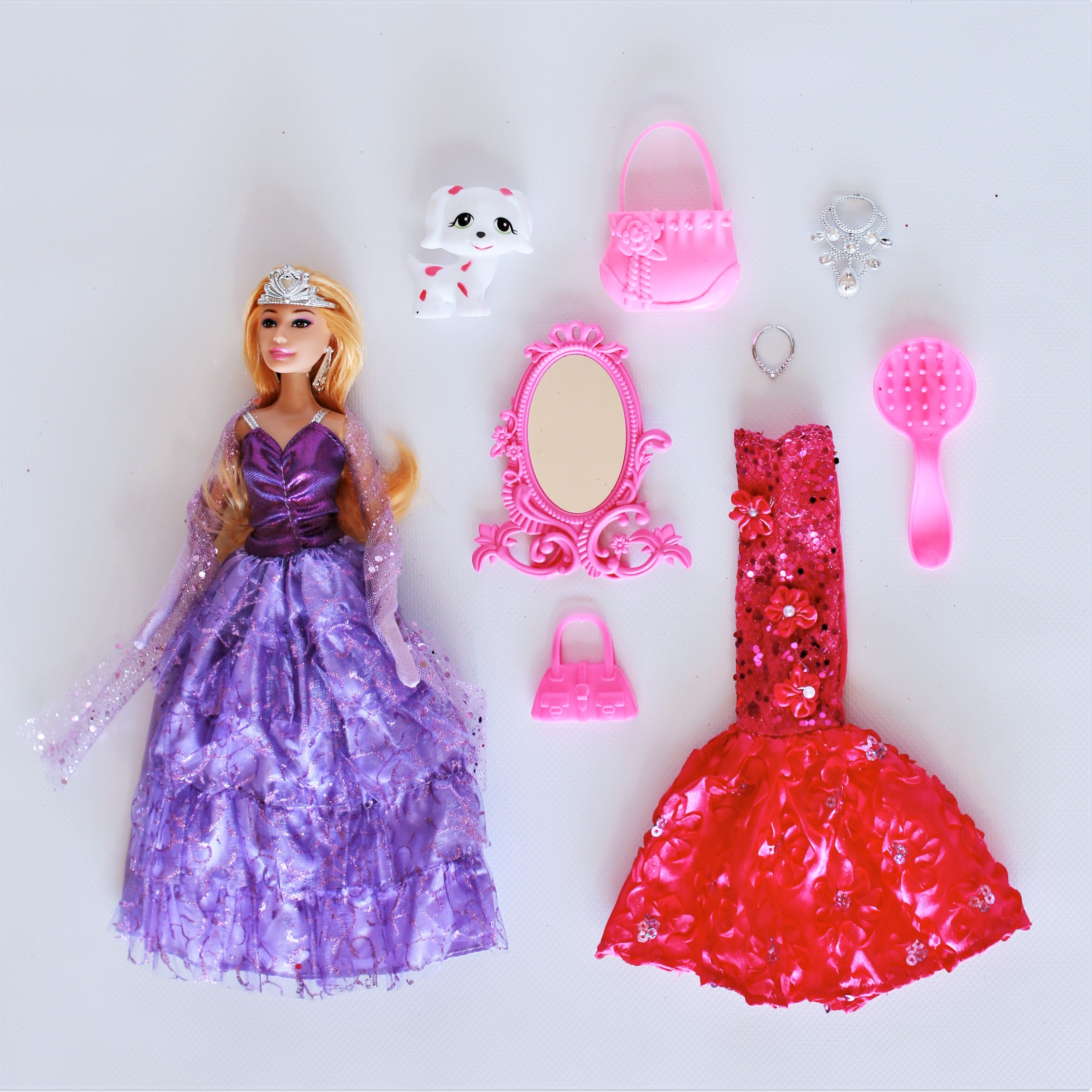 Princess Doll with Evening Gowns & Accessories