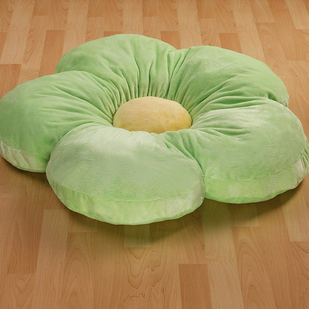 Green Daisy Pillow