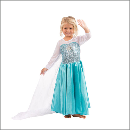 Elsa Dress for Little Princess Costume, Frozen Inspired, Glamour & Coziness