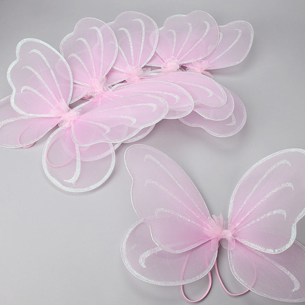 pack of 6 pink fairy wings with arm attachments for children