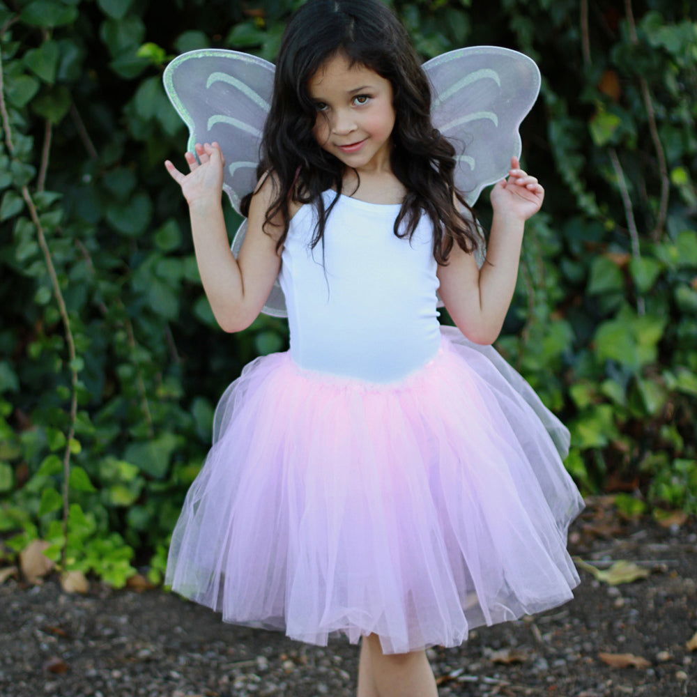 Pink Fairy Wing Wand Tutu Set