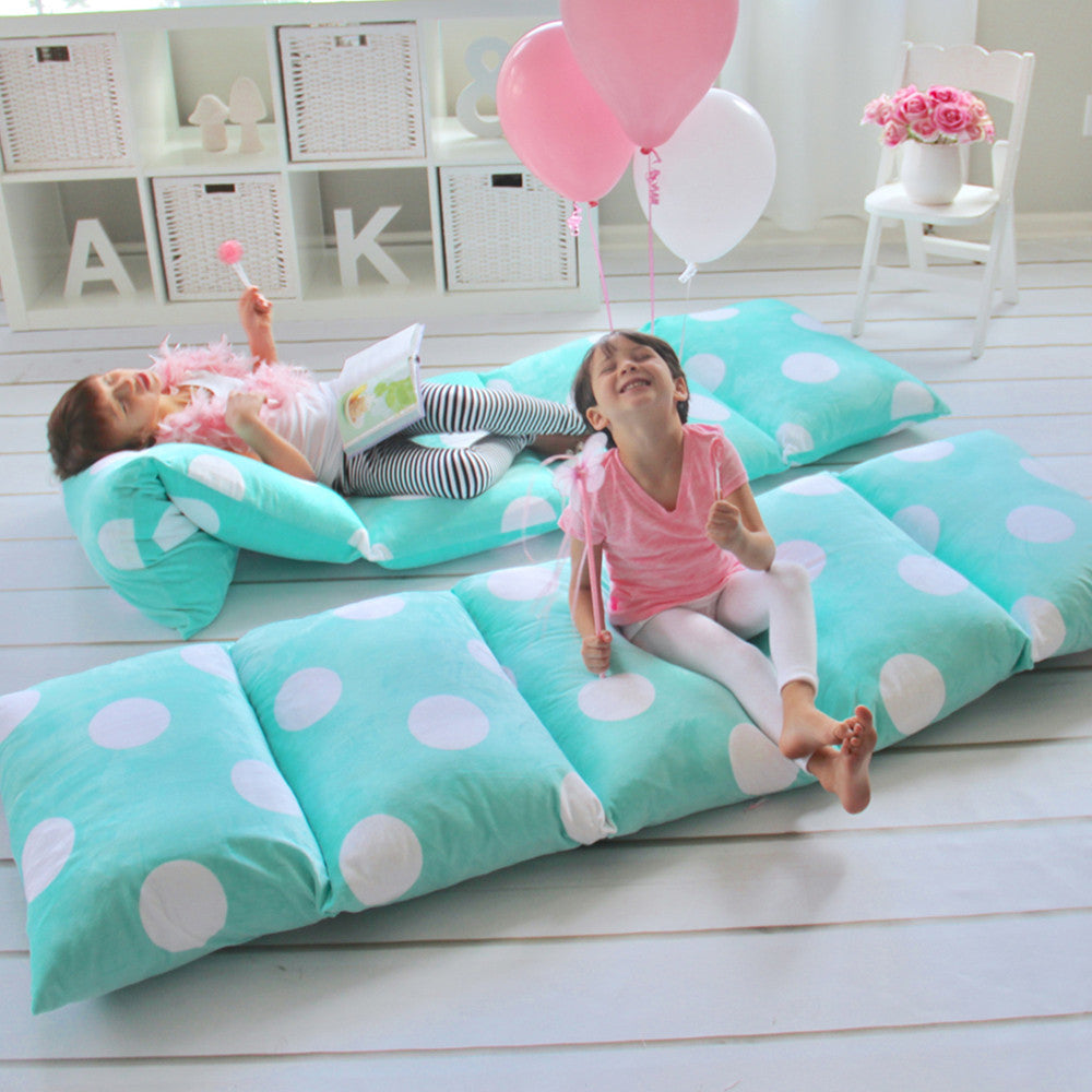 Aqua Green Girls' Pillow Bed Cover