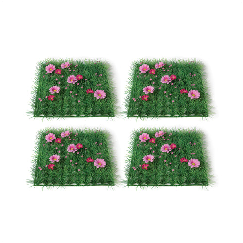 4pcs Grass Placemats for Party Decor