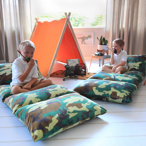Camo Pillow Bed Cover