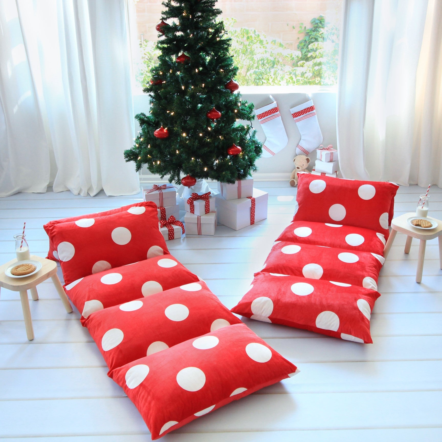 Christmas Pillow Bed Cover