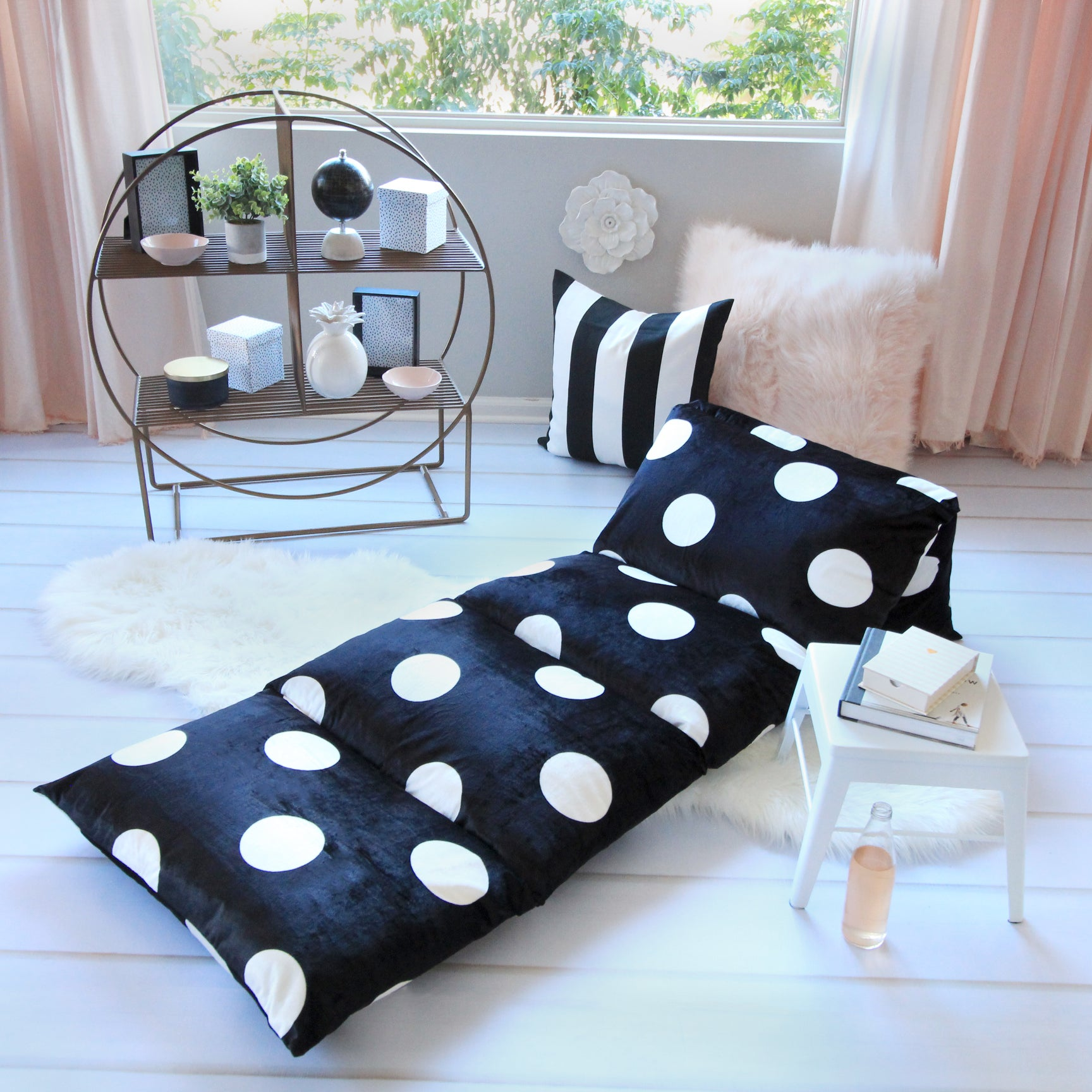 Black Polka Dot Pillow Bed Cover