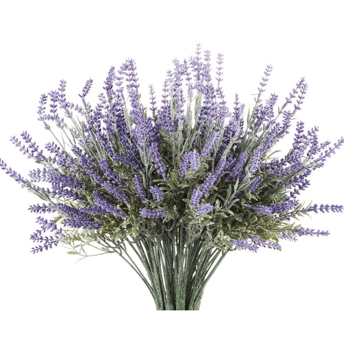 Artifical Lavenders with Green Leaves