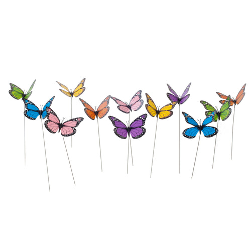 12pcs Butterfly Stakes