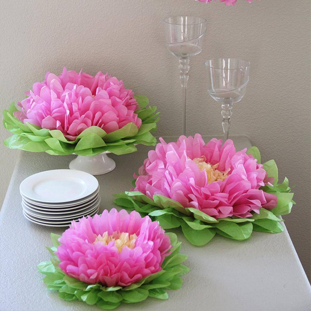 Light Pink Paper Flower Set