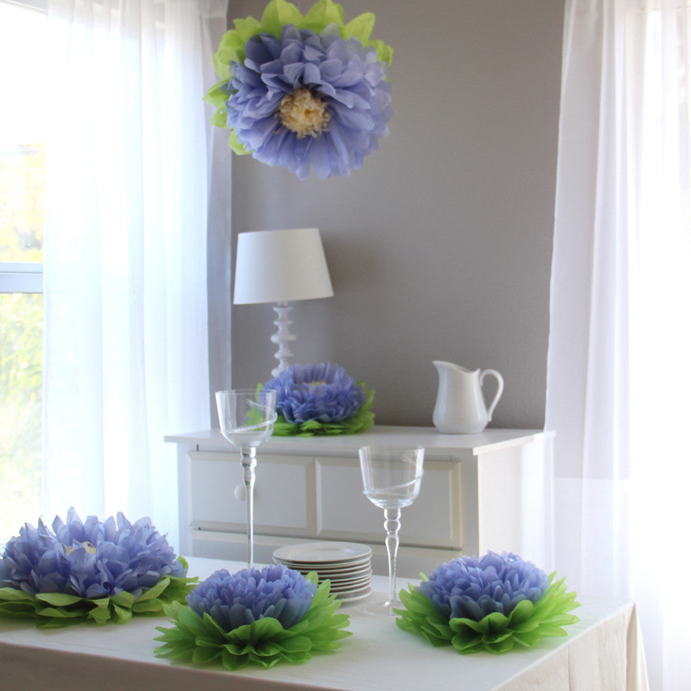 Purple Paper Flower Set