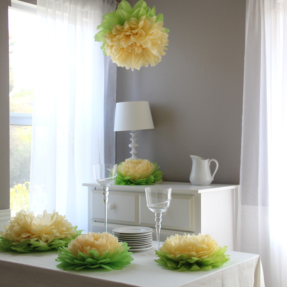 Yellow Paper Flower Set