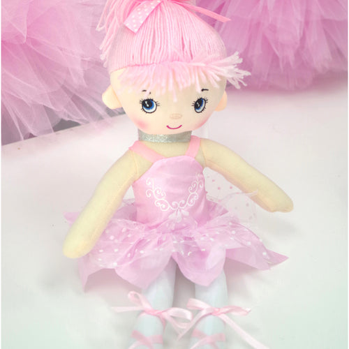 Light Pink Plush Ballerina Doll