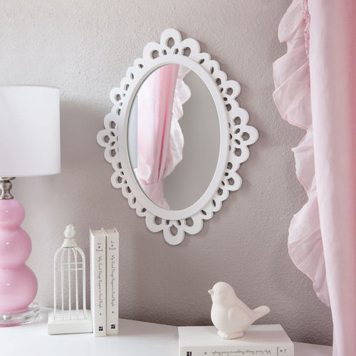 Wood Oval Princess Mirror