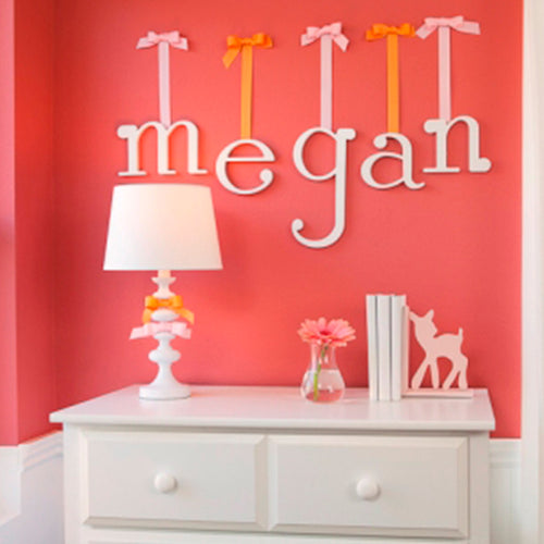 White Wall Letters for Nursery