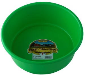 5 QT Plastic Utility Pan, Lime Green