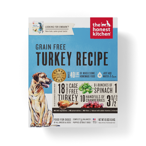 The Honest Kitchen EMBARK Grain Free Turkey Recipe Dry Dog Food