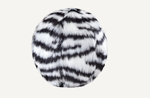"ZEBRA BALL, 4"" Small, Squeakerless"