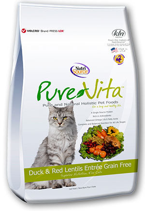 PureVita Grain Free Duck & Red Lentils, Dry Cat Food