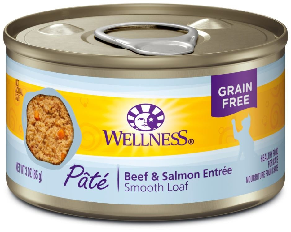 Wellness Complete Health Grain Free Natural Beef and Salmon Recipe Canned Cat Food