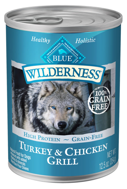 Blue Buffalo Wilderness Turkey & Chicken Grill Canned Dog Food