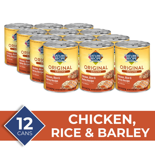 Nature's Recipe Easy to Digest Chicken Rice Barley Homestyle Ground Canned Dog Food