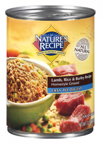 Nature's Recipe Easy to Digest Lamb Rice and Barley Homestyle Ground Canned Dog Food