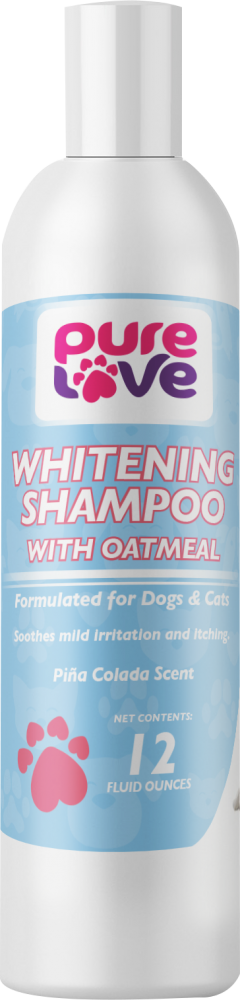 Pure Love Whitening Shampoo with Oatmeal for Dogs and Cats-Pina Colada Scent