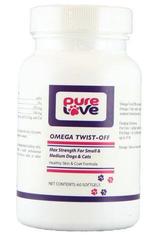 Pure Love Omega Twist Off for Small and Medium Dogs