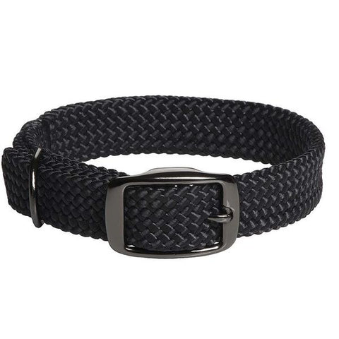 "Double Braid Collar, Black Metallic Buckle, 1"" Assorted"