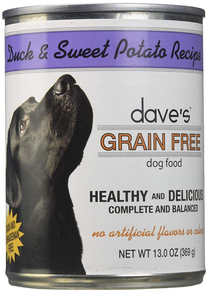 Dave's Grain Free Duck & Sweet Potato Canned Dog Food