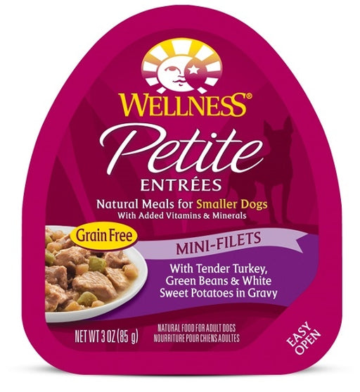 Wellness Petite Entrees Mini-Filets Grain Free Tender Turkey Recipe Wet Dog Food