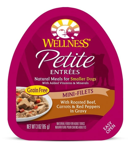 Wellness Petite Entrees Mini-Filets Grain Free Natural Roasted Beef Recipe Wet Dog Food