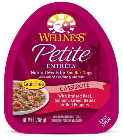 Wellness Petite Entrees Casserole Grain Free Natural Beef and Salmon Recipe Wet Dog Food
