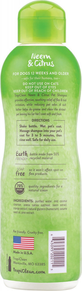 Tropiclean Neem Flea & Tick Shampoo for Dogs