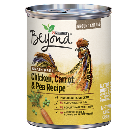 Purina Beyond Ground Entree Grain Free Chicken, Carrot, and Pea Recipe Canned Dog Food
