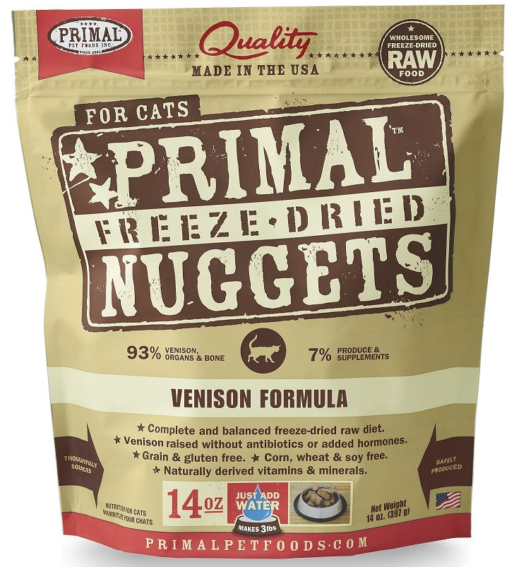 Primal Freeze Dried Nuggets Venison Formula Complete Diet for Cats