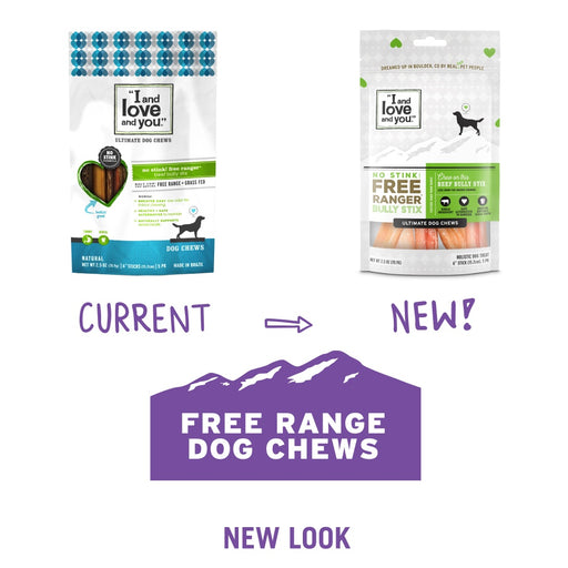 I and Love and You Grain Free Free Ranger No Stink Bully Stix Dog Treats