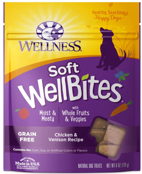 Wellness Natural Grain Free Wellbites Soft Chicken and Venison Recipe Dog Treats