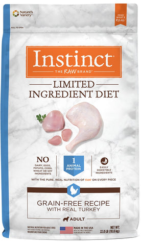 Nature's Variety Instinct Limited Ingredient Diet Adult Grain Free Recipe with Real Turkey Natural Dry Dog Food
