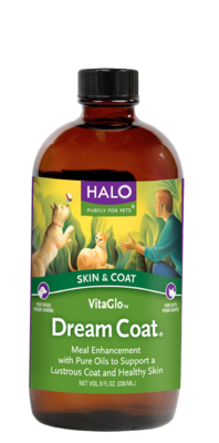 Halo Dream Coat Meal Enhancement Oil for Dogs and Cats