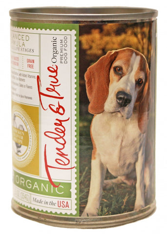 Tender & True Grain Free Organic Chicken and Liver Recipe Canned Dog Food